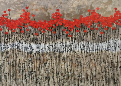 Debongnie Red Flowers Field(120x160cm)